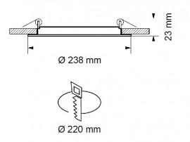 Ultralux Panou Led Rotund 15W Alb-Neutru LP2202401542