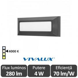 Vivalux ALVIA RC Led 4W IP65 4000K Alb-Neutru