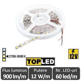 Bandă LED flexibilă - SMD5050 12W/m 12V rolă 5m alb-cald