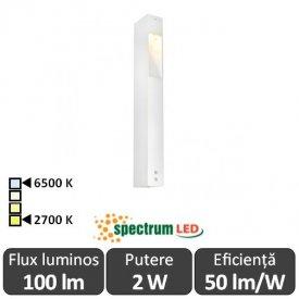 Spectrum Aquatique 2W IP54 2700-6500K 0.4m Alb-Cald/Alb-Rece