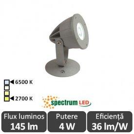 Spectrum Flori  Gri 4W IP65 2700-6500K  Alb-Cald/Alb-Rece
