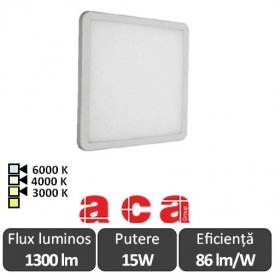 ACA Lighting Panou Led Pătrat Flexi Alb 15W