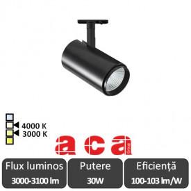 ACA Reflector interior șina AIMY 30W 3000/4000K Alb/Negru