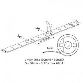 Bandă LED flexibilă - Vivalux Coda LED 4,8W/m 12V rolă 5m alb-rece