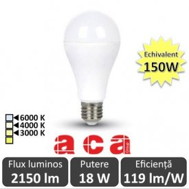 Bec LED Aca Lighting 18-150W E27 alb-cald/neutru/rece