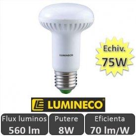 Bec LED NEXT R63 8W 560lm E27 230V alb-cald