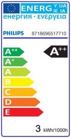 Bec LED Philips - Classic Filament LED 2,3W P45 E14 827 alb-cald