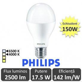 Bec LED Philips - CorePro LED bulb 17.5-150W E27 230V A67 alb-neutru sau rece