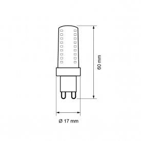 Bec LED Ultralux - Capsula LED G9 3W 230V alb-neutru