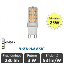 Bec Vivalux - BRILA LED 3W G9 alb-neutru