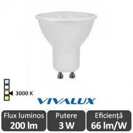 Bec Vivalux LED SPOT GU10 Vivalux 3W Beta Led
