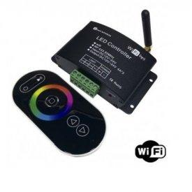 Controler RGB Wi-Fi, 12A, telecomanda touch,12-24V