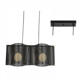 Lampa suspendata HM842P57BK 2xE27