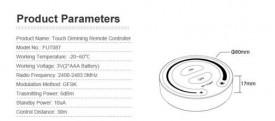 MiBoxer Telecomanda Monocolor Touch Smart Perete 1 zonă RF Neagră