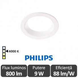Philips Ledinaire DN060B LED8S/840 800lm PSU WH