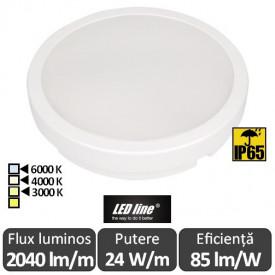 Plafonieră LED cu senzor Led Line Luna LED 24W IP65 alb-neutru