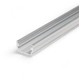 Profil LED aparent UNI 12, aluminiu neanodizat, lungime 2m
