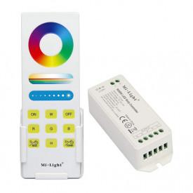 Set MiBoxer RGBW Dimmer RF și telecomandă Touch, 15A, 12-24V