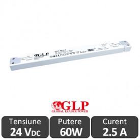 Sursa alimentare Slim GLP LED 60W 24V IP20