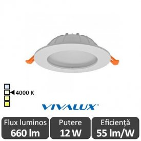 Vivalux CALIX LED 12W alb-neutru