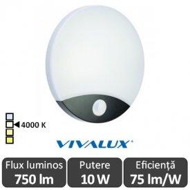 Vivalux LIMA Led 10W Alb-Negru  IP44 4000K Alb-Neutru