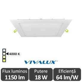 Vivalux Panou GRID LED Panel 18W CL/W 4000K Alb