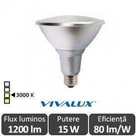Vivalux PAR38 LED 15W E27 3000K ( Alb-Cald )
