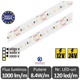 Bandă LED flexibilă SMD2216 8.4W/m IP20 120led/m 24V