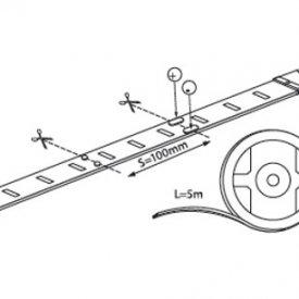 Bandă LED flexibilă - Vivalux RGB Mega LED 7,2W/m 12V rolă 5m RGB