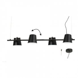 Lampa suspendata EF27P4102BK 4xE14