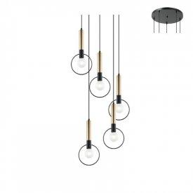 Lampa suspendata HL39975P53BB 5xE27