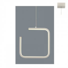 Lampa suspendata V27LEDP22WH 8W