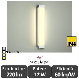 Nowodvorski FRASER LED 12W IP44 alb-neutru