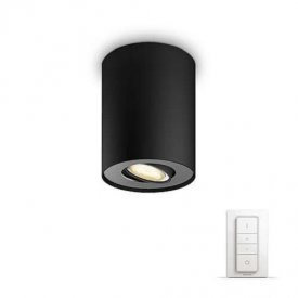 Philips - Spot aplicat HUE Pillar Negru 1x5.5W  LED