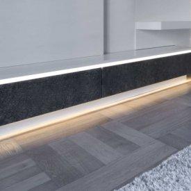 Profil LED aparent SLIM 8, aluminiu anodizat, lungime 2m
