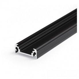 Profil LED aparent SURFACE 10, negru, lungime 2m