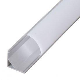 Profil LED de colt tip A204, pentru montaj aparent, lungime 2m