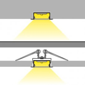 Profil LED încastrat VARIO 30-06, alb, lungime 2m