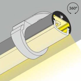 Profil LED pentru vitrine PEN 8, aluminiu anodizat, lungime 2m