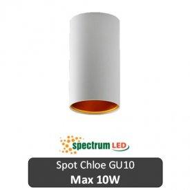 SPECTRUM  Spot Chloe Rotund Alb 1XGU10 N/O