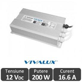 Sursa alimentare LED 200W 12V-16.67A IP67