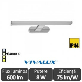 Vivalux  ARBA LED 8W IP44 alb-neutru