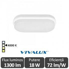Vivalux ELLIS/O Led 18W IP54 4000K Alb-Neutru