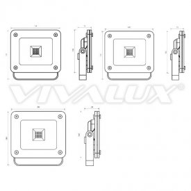 Vivalux - Proiector Z-PAD LED de Exterior 30W IP65 4000K Alb-Neutru Culoare Aluminiu