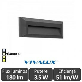 Vivalux RINO RC 3.5W IP65 4000K Alb-Neutru