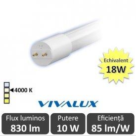 Tub LED Vivalux Royal LED 10W T8 600mm 4000K alb-neutru
