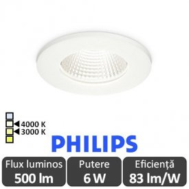 PHILIPS Spot ClearAccent 6W RS060B Alb-Cald/Alb-Neutru