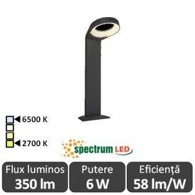 Spectrum Aquatique 6W IP54 2700-6500K 0.5m Alb-Cald/Alb-Rece