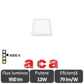 Aca Lighting Panou Led Pătrat Arca 12W