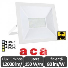 Aca Lighting - Proiector LED de Exterior 150W IP66 Alb/Negru